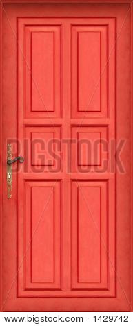 Magic Red Door - Very High Definition Of The Entire Door