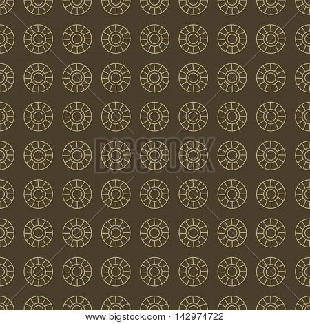 Coffee colored vector seamless patterns. Light dots on brown background.