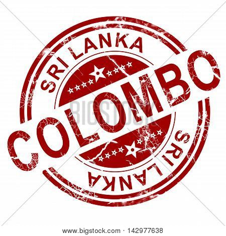 Red Colombo Stamp