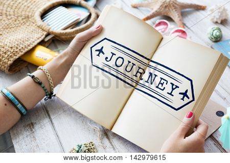 Journey Explore Travel Trek Trip Tour Graphic Concept