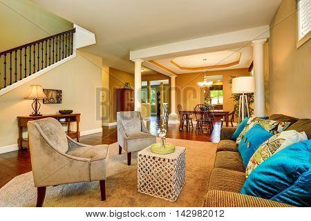 Open Floor Plan In Luxury House .