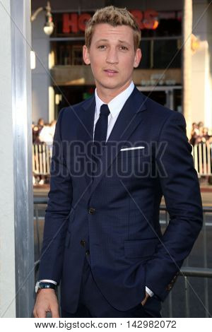 LOS ANGELES - AUG 15:  Miles Teller at the War Dogs