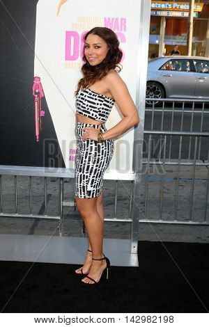 LOS ANGELES - AUG 15:  Jessica Parker Kennedy at the War Dogs
