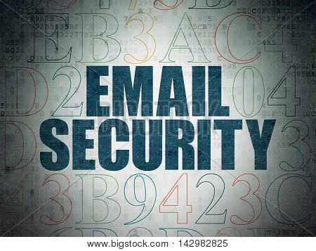Security concept: Painted blue text Email Security on Digital Data Paper background with Hexadecimal Code