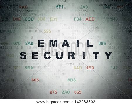 Safety concept: Painted black text Email Security on Digital Data Paper background with Hexadecimal Code