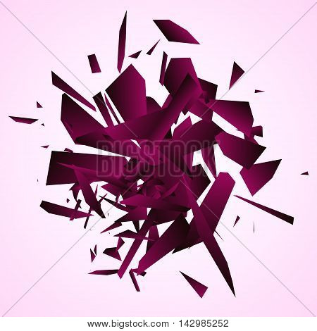 Abstract explosion, Geometric background, Vector illustration EPS10