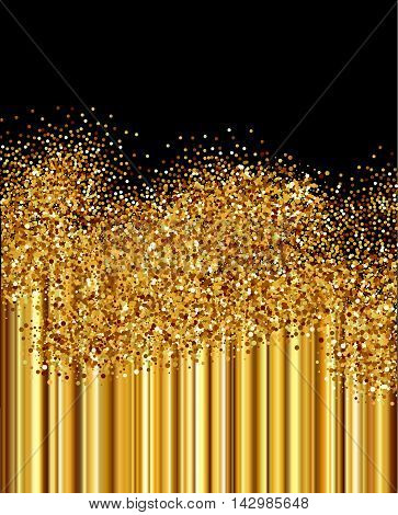Background with golden vertical gradient  and chaotic circle sparkles