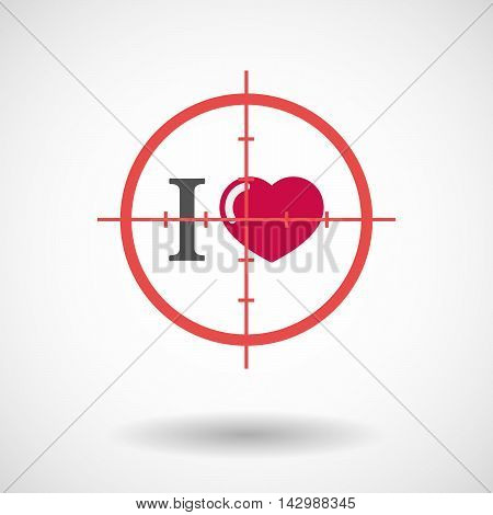 Isolated Line Art Crosshair Icon With  An