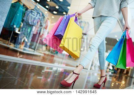 Shopping in trade center