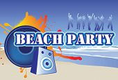 picture of beach party  - illustration of a beach party invite or flyer - JPG