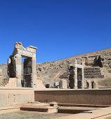 pic of xerxes  - Ruins of ancient Darius Palace Persepolis in Iran - JPG