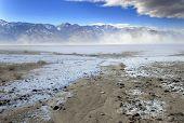 foto of sandstorms  - The dry bottom of a salt lake in Death Valley - JPG
