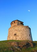 stock photo of martello  - Carlton Martello Tower located on the lower west side of Saint John New Brunswick Canada a historical site built in the early 1800 - JPG