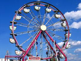 stock photo of ferris-wheel  - ferris wheel at the county fair - JPG