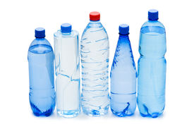 foto of bottle water  - Bottles of water isolated on the white - JPG