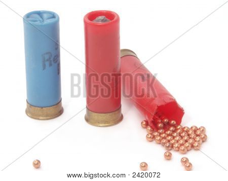 Blue And Red Hunting Ammunition