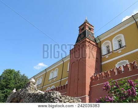 Moscow Kremlin In Summer View