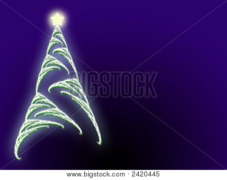 Christmas Tree Star And Copyspace