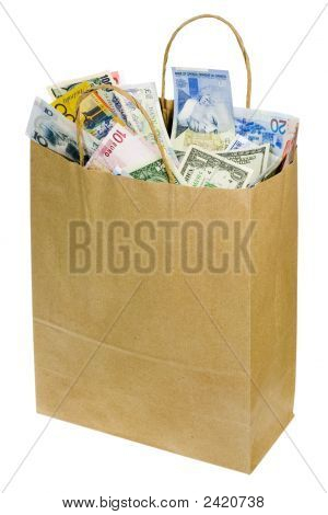 Paperbag Of World Currencies