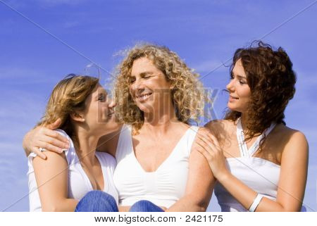 Happy Family Of Women, Mother And Daughters