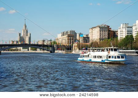 White River Cruise Boat On Moscow River