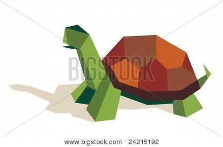 Single Origami Tortoise