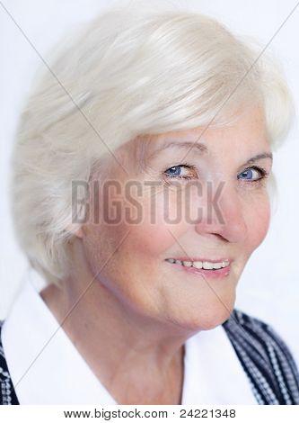 Senior lady happy, with elegant clothes