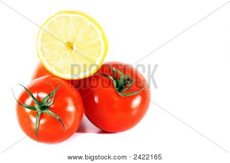 Tomatoes With Lemon On Top