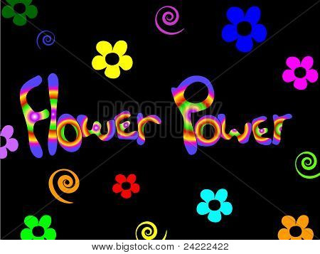 Fundo de Flower Power