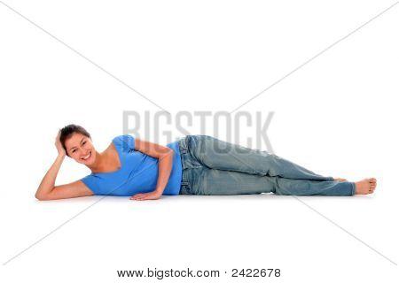 Mujer acostada