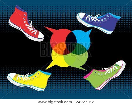 Teenager Sneakers Social Media