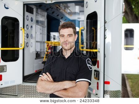 Portrait of a male Ambulance Personal