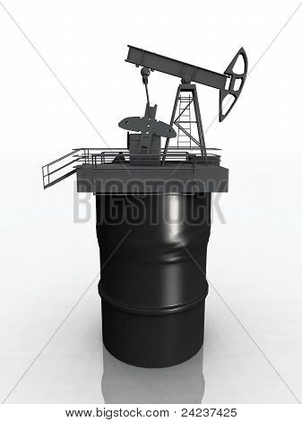 oil wells and drum
