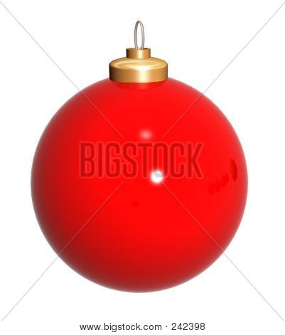 Christmas Ball In Red