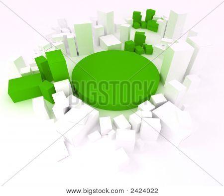 Green And White Blocks