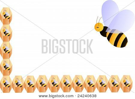Baby bees frame