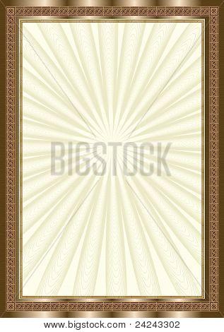 Bronze elegant frame