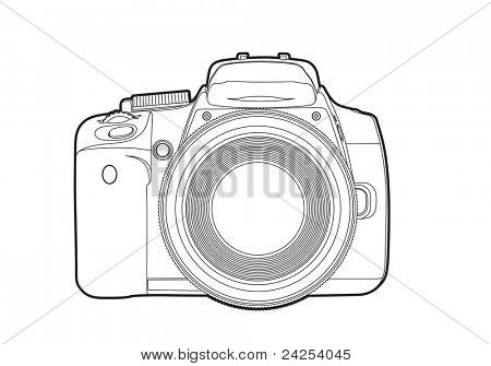 Câmera de vetor