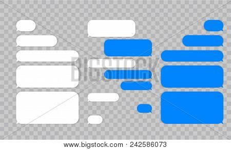 Message Chat Bubbles Vector Icons For Messenger  Template For Message Chat   Vector Illustration poster