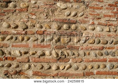 texture of Palace of the Kings of Majorca at Perpignan, France