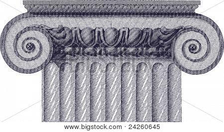 classic column illustration