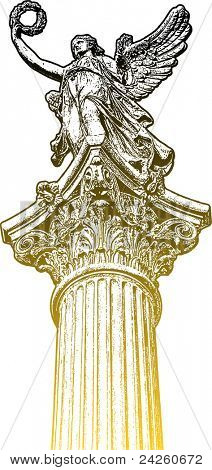 Golden muse statue, the head of the candelabrum