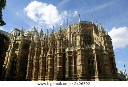 Exterior Of Westminster Abbey. The Church Of England