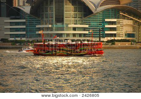 Ferry del puerto de Hong Kong