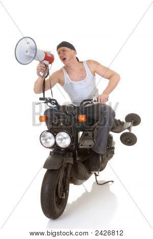 Boy, Scooter Megaphone