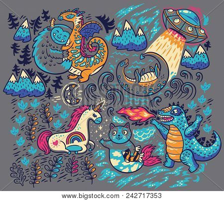 Kids Print With Fantastic Animals