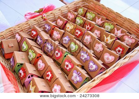 Basket With Packed Sweets