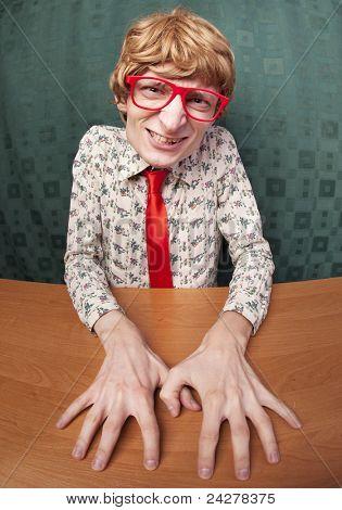 Funny nerdy guy