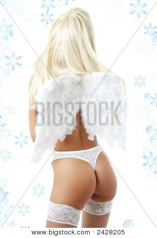Lingerie Angel With Snowflakes #2