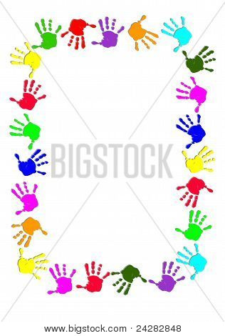 Colorful Hand Frame